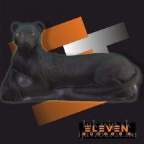 3D ležiaci panter Eleven - čierny