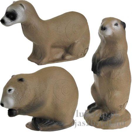 3D rodinka malých zvieratiek - 3Di