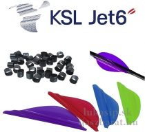 "Letky plastové KSL Jet6 1,75"" balenie 50ks"