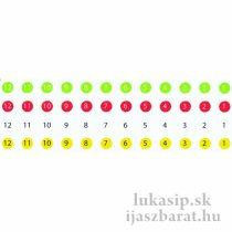 Čísla na šípy Bohning 16 riadkov @12