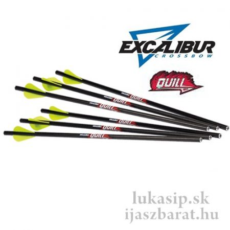 """Šíp karbonový Excalibur Quill 16,5"""" do kuše Micro 6 kusov"""