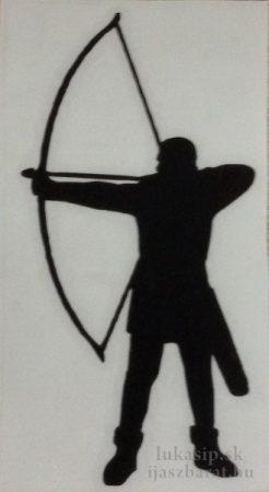 Samolepka na auto - longbow