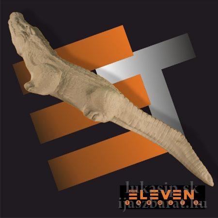 3D krokodíl Eleven