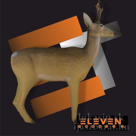 3D srnec s parožkami Eleven